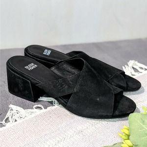 Eileen Fisher Haven Slide Sandals Mules Leather